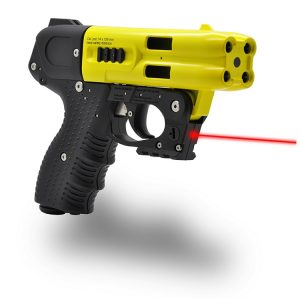 JPX4 4 Shot Pepper Gun Yellow with Laser and Level II Holster
