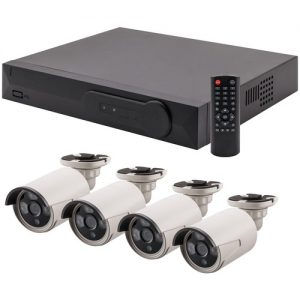 4-Channel 1TB NVR with Four 2.0-Megapixel PoE Bullet Cameras