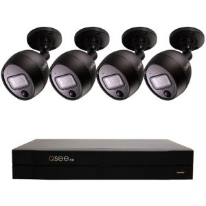 4-Channel Analog 1080p HD DVR with 1TB Hard Drive & 4 1080p PIR Security Cameras
