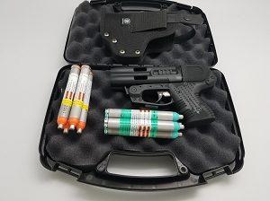 JPX4 Shot Black Compact Pepper Gun With Cordura Belt holster