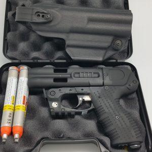 JPX4 Shot LE Defender Pepper Gun Black with Level 2 Holster