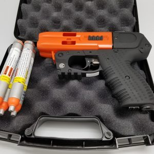 JPX4 4 SHOT PEPPER GUN ORANGE WITH LASER