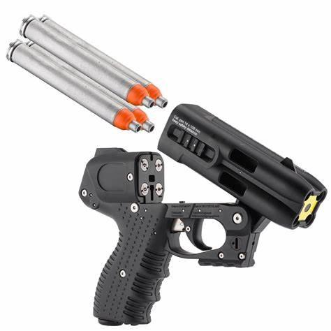 JPX4 4 SHOT PEPPER GUN ORANGE WITH LASER